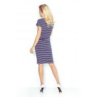 Спортно-елегантна миди рокля в тъмносиньо 139-1