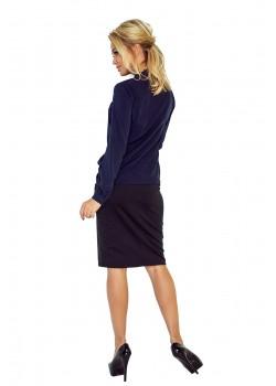 Тъмносиня дамска блуза 140-4