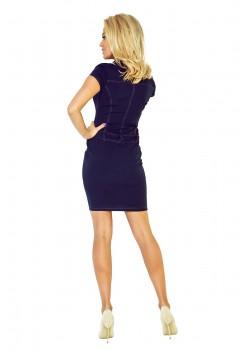 Тъмносиня мини рокля 142-2