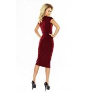 Елегантна миди рокля в цвят бордо 144-7