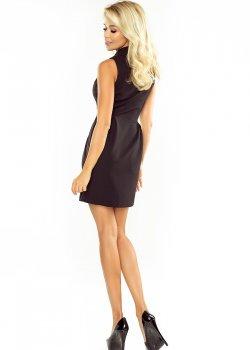 Асиметрична мини рокля в черно 153-4