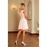 Елегантна мини рокля в розово 157-4