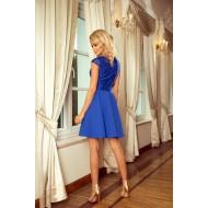 Елегантна мини рокля в синьо 157-5