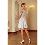 Елегантна мини рокля в сиво 157-6