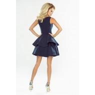 Официална къса рокля в тъмносин цвят 169-2