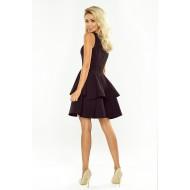Официална къса рокля в черен цвят 169-3