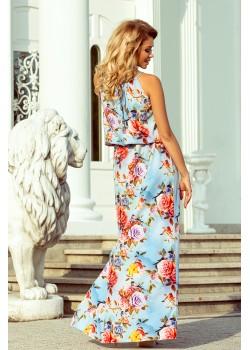 Дълга рокля с десен на цветя 191-5