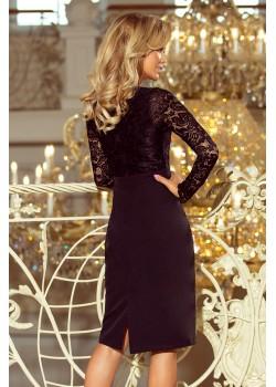 Черна рокля в тъмносин цвят 216-2