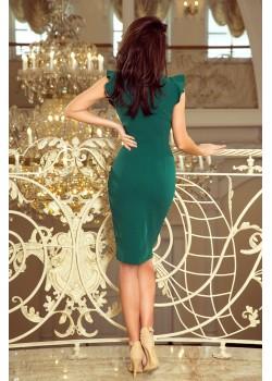 Елегантна рокля в зелен цвят 227-1