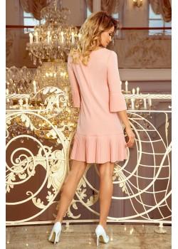 Красива рокля в цвят праскова 228-1