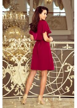 Ежедневна рокля в цвят бордо 229-2