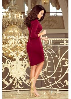 Елегантна рокля в цвят бордо 237-2