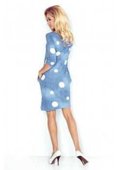 Ежедневна мини рокля с 3/4 ръкави 40-11
