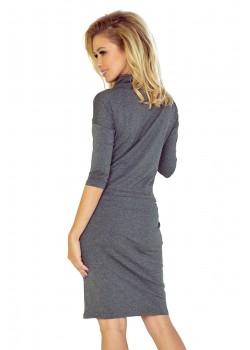 Ежедневна миди рокля в сиво 44-1