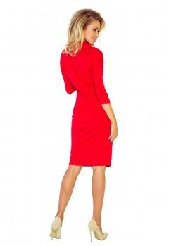 Ежедневна миди рокля в червен цвят 44-13