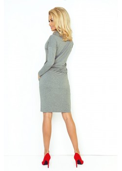 Ежедневна миди рокля в сиво 44-2