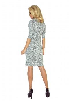 Ежедневна миди рокля в сиво 44-4