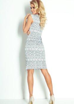 Елегантна миди рокля в сив цвят 53-15
