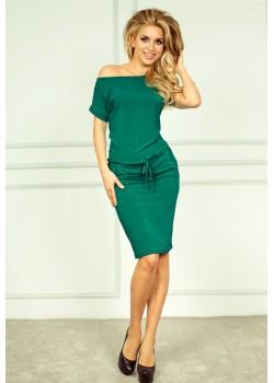 Зелена мини рокля 56-5