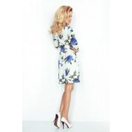 Бяла миди рокля 88-17