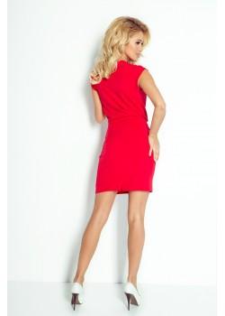 Червена мини рокля 94-2