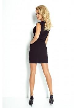 Черна мини рокля 94-4