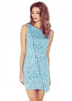 Асиметрична мини рокля в синьо MM-004-5