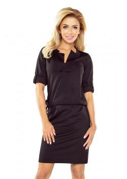 Черна рокля с 3/4 ръкав 161-1