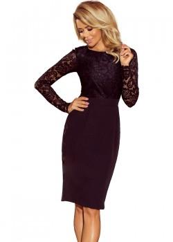 Черна рокля с дантела 216-2