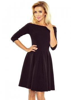Черна рокля с голи рамене 163-1