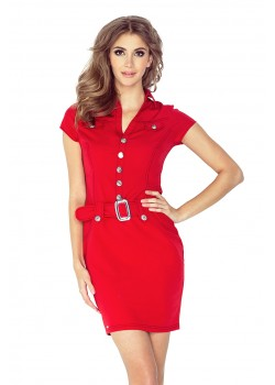 Червена мини рокля 142-4