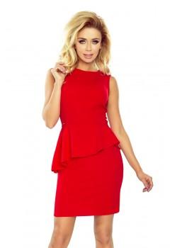 Червена мини рокля 178-1