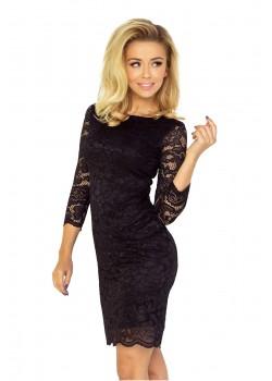 Дантелена къса рокля в черно 145-1