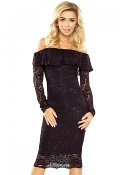 Дантелена миди рокля в черно MM-021-1