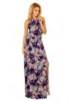 Дълга рокля с десен на цветя 191-2