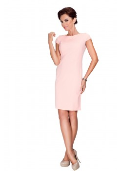 Елегантна миди рокля в розов цвят 37-1