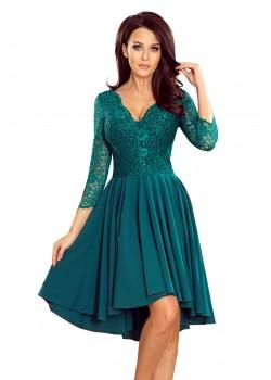 Елегантна асиметрична рокля в зелен цвят 210-8