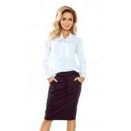 Елегантна бяла блуза 140-8