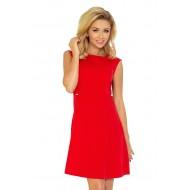 Елегантна къса рокля в червено 137-2