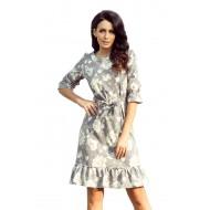Елегантна миди рокля с колан 193-4