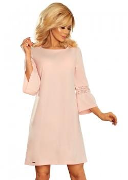 Елегантна миди рокля с разкроен ръкав 190-1