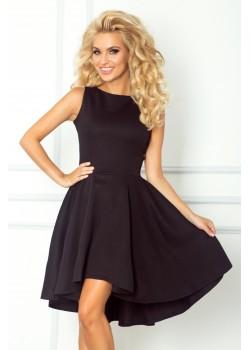 Елегантна миди рокля в черно 66-2