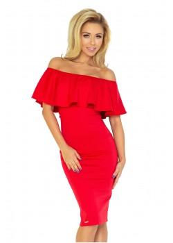 Елегантна миди рокля в червено 138-2