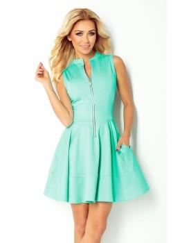 Елегантна миди рокля в синьо 123-15