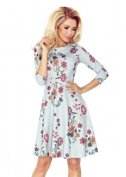 Елегантна миди рокля в сиво 49-19