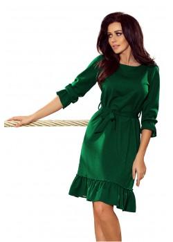 Елегантна миди рокля в зелено 193-8