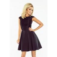 Елегантна мини рокля в черно 157-2