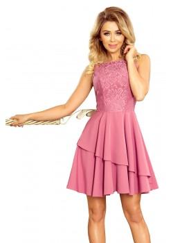 Елегантна рокля в розов цвят 236-1