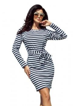 Ежедневна къса рокля на райе 209-1
