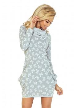 Ежедневна къса рокля с джобове 135-2